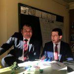Visita del consejero de Educación a los colegios de Vegadeo