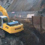 En marcha las obras para reparar el desprendimiento en la carretera del Valledor